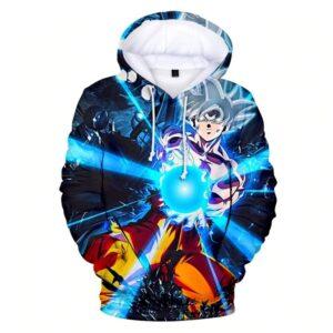 goku mastered ultra instinct blue hoodie