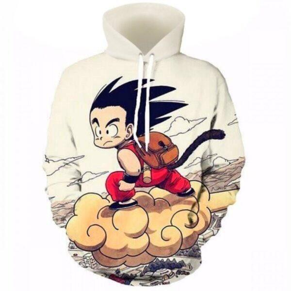 kid goku flying cloud nimbus hoodie