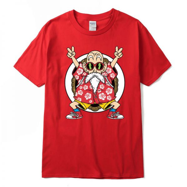master roshi kame classic red t shirt