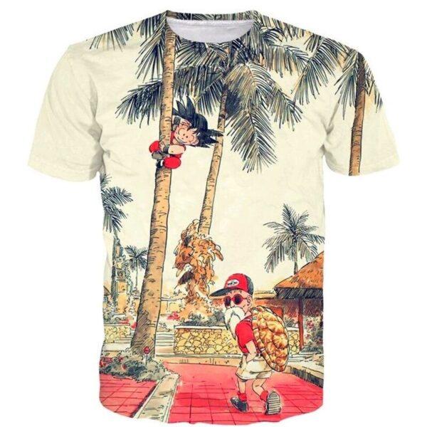 palm tree kid goku master roshi vintage t shirt