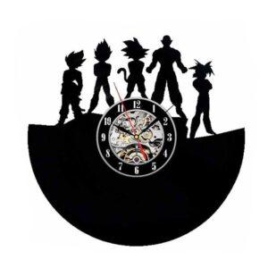 saiyan united vinyl record wall clock