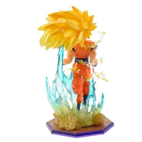 son goku super saiyan 3 ssj3 collectible figure back