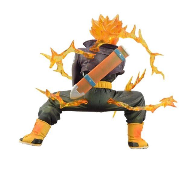 trunks saiyan battle version action figure back