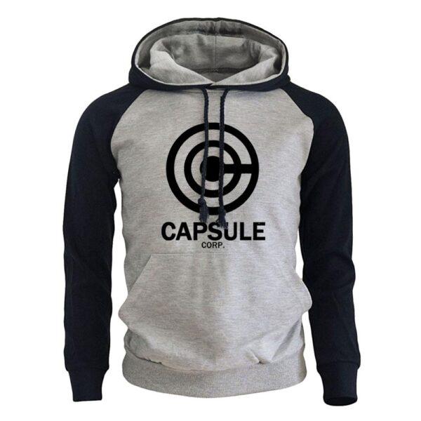 capsule corp black logo hoodie