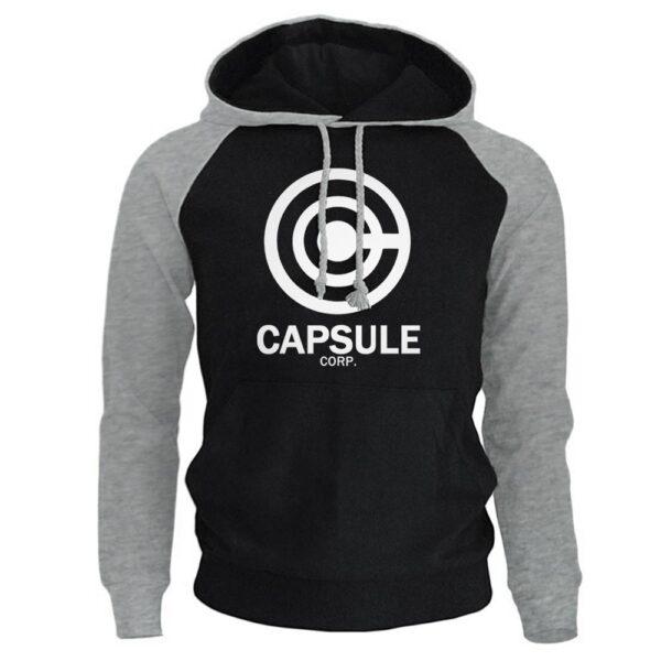 capsule corp black white hoodie