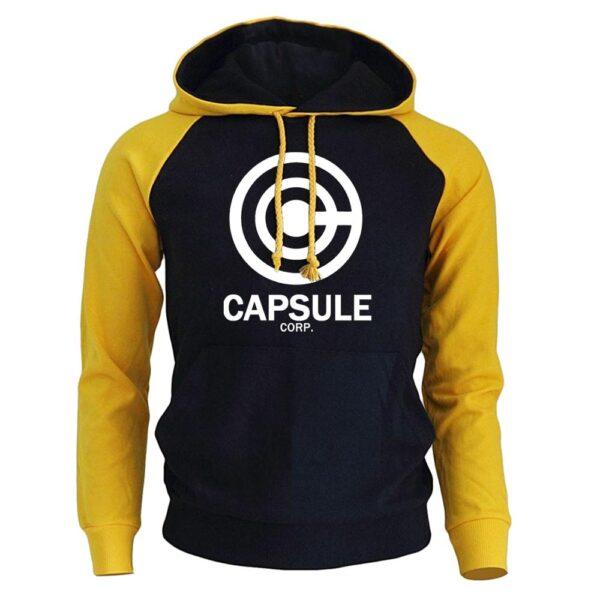 capsule corp yellow hoodie