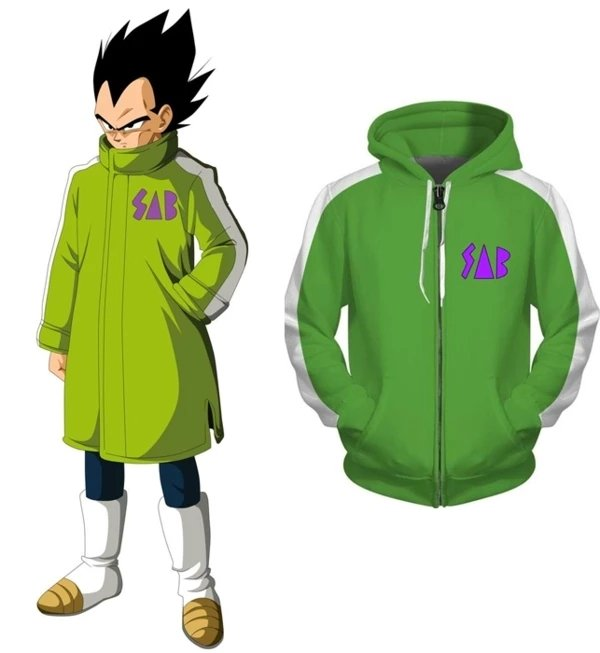 dragon ball super vegeta sab green jacket