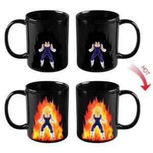 dragon ball vegeta heat reactive color changing mug