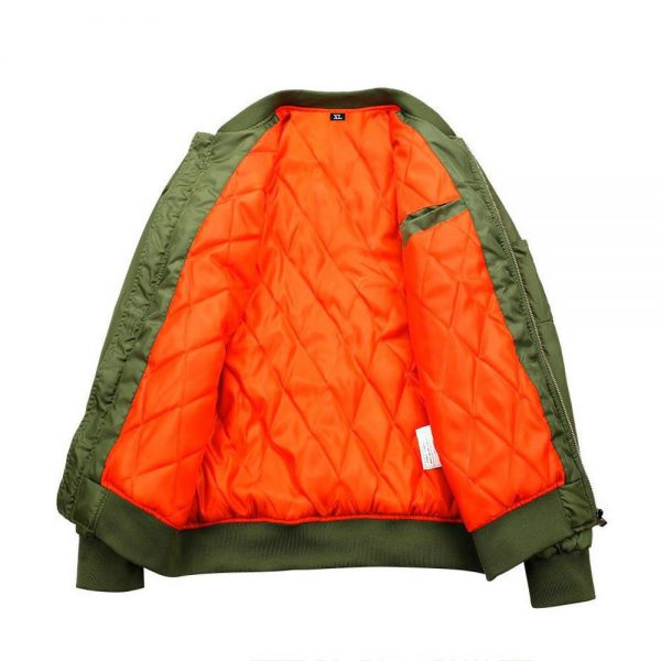 dragon ball z goku green khaki bomber jacket inside
