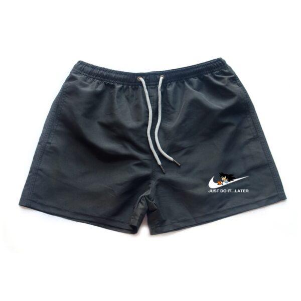 dragon ball z goku just do it later nike parody black shorts