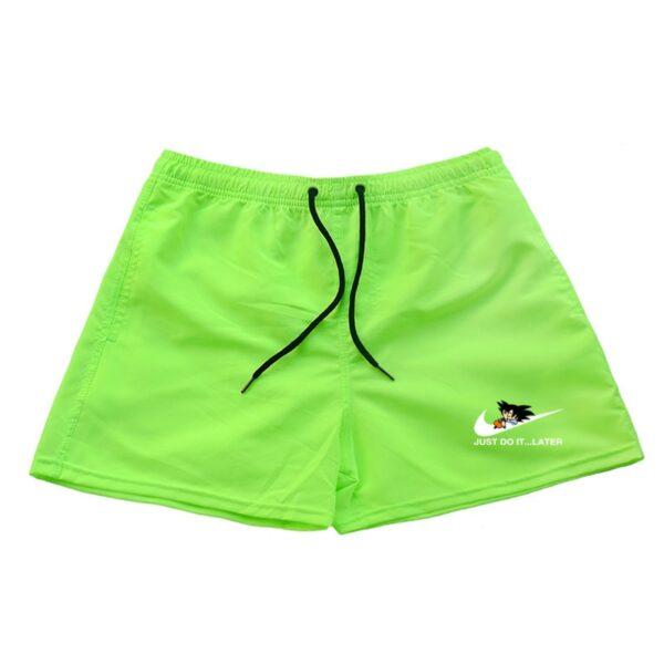 dragon ball z goku just do it later nike parody green shorts