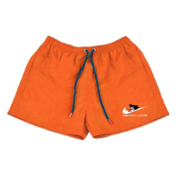 dragon ball z goku just do it later nike parody orange shorts