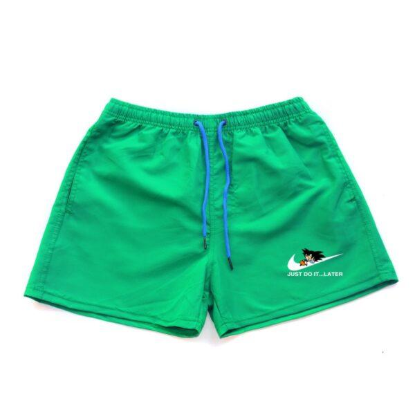 dragon ball z goku just do it later nike parody turquoise shorts