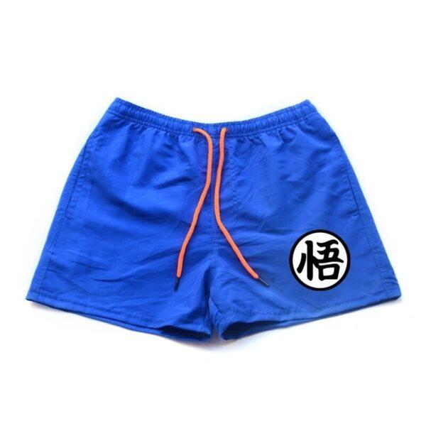 dragon ball z goku kanji symbol blue shorts