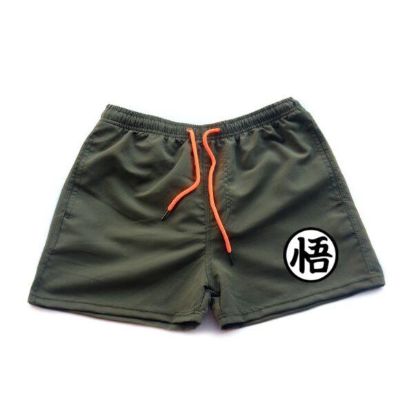 dragon ball z goku kanji symbol brown shorts