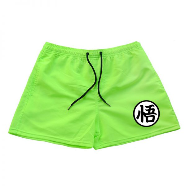 dragon ball z goku kanji symbol green shorts