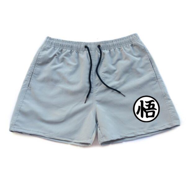 dragon ball z goku kanji symbol light gray shorts