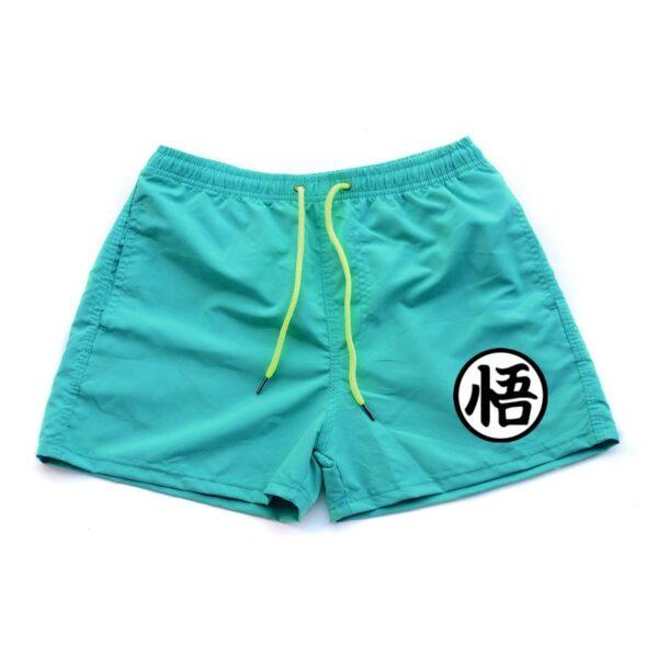 dragon ball z goku kanji symbol sky blue shorts