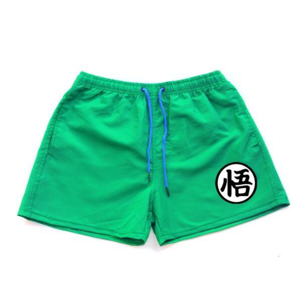 dragon ball z goku kanji symbol turquoise shorts