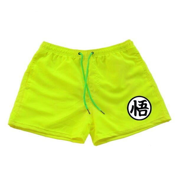 dragon ball z goku kanji symbol yellow shorts