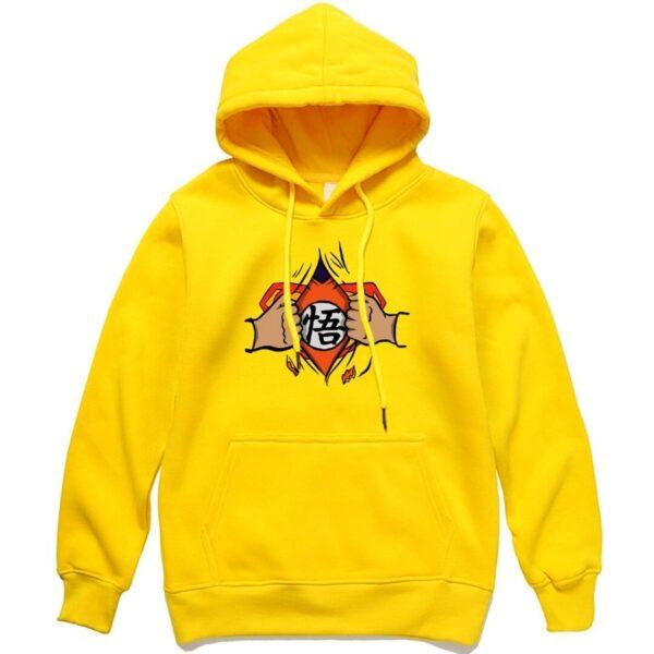 dragon ball z goku vs superman yellow hoodie