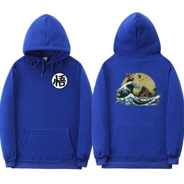 dragon ball z kame blue hoodie
