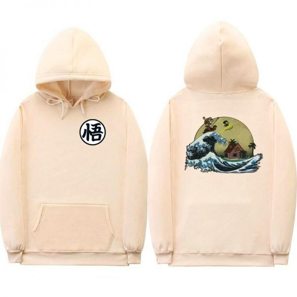 dragon ball z kame cream hoodie