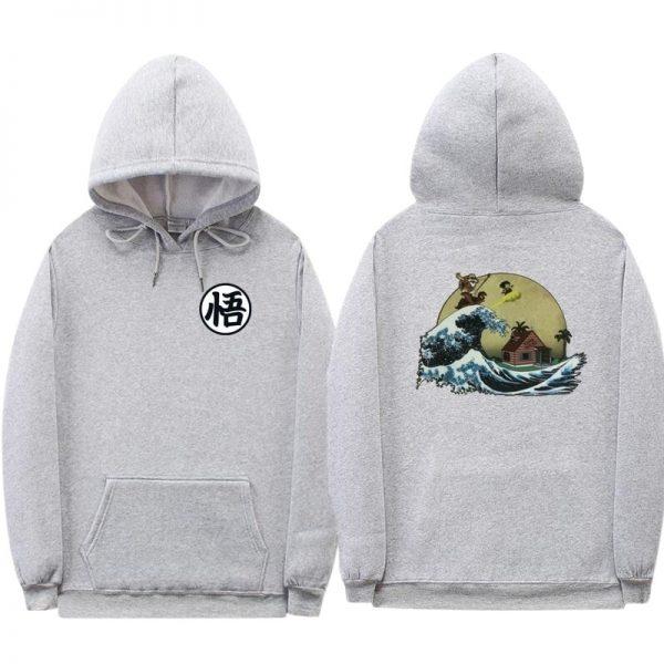 dragon ball z kame grey hoodie