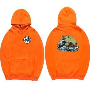 dragon ball z kame orange hoodie