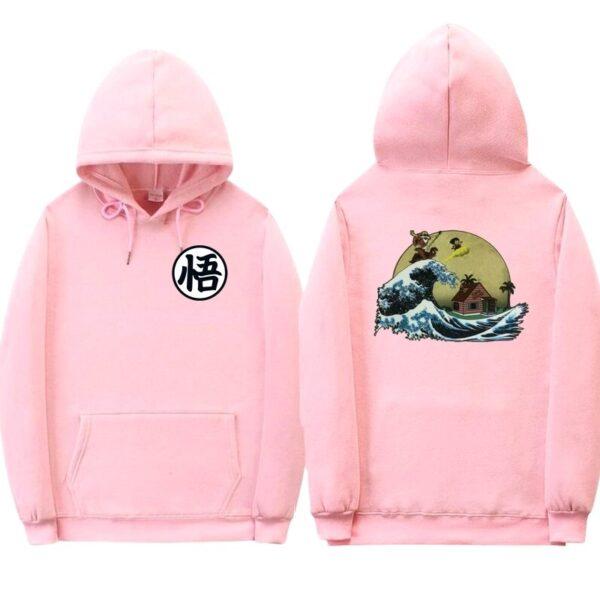 dragon ball z kame pink hoodie