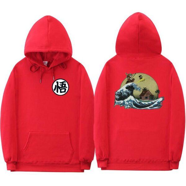dragon ball z kame red hoodie