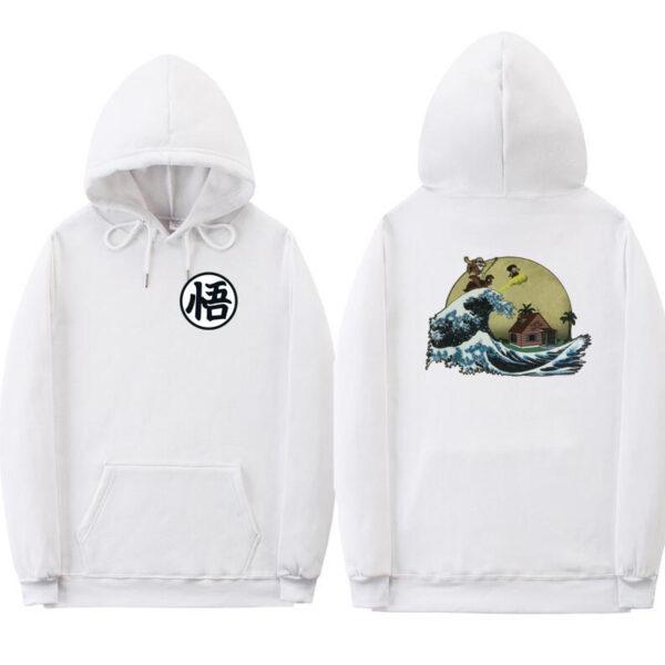 dragon ball z kame white hoodie