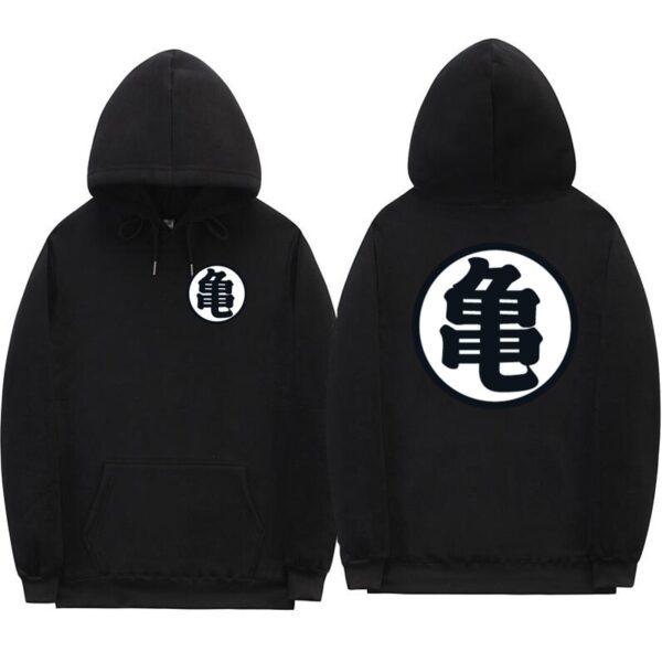 dragon ball z master roshi kanji black hoodie