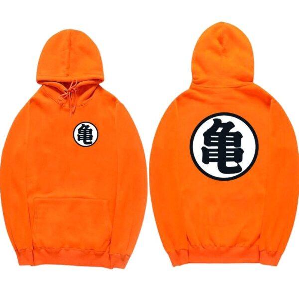 dragon ball z master roshi kanji orange hoodie