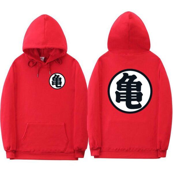 dragon ball z master roshi kanji red hoodie
