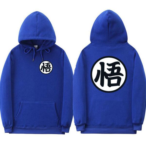 dragon ball z original blue hoodie