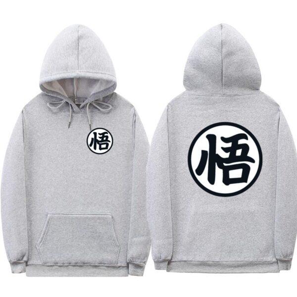 dragon ball z original grey hoodie
