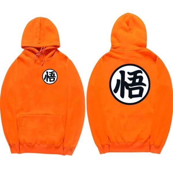 dragon ball z original orange hoodie