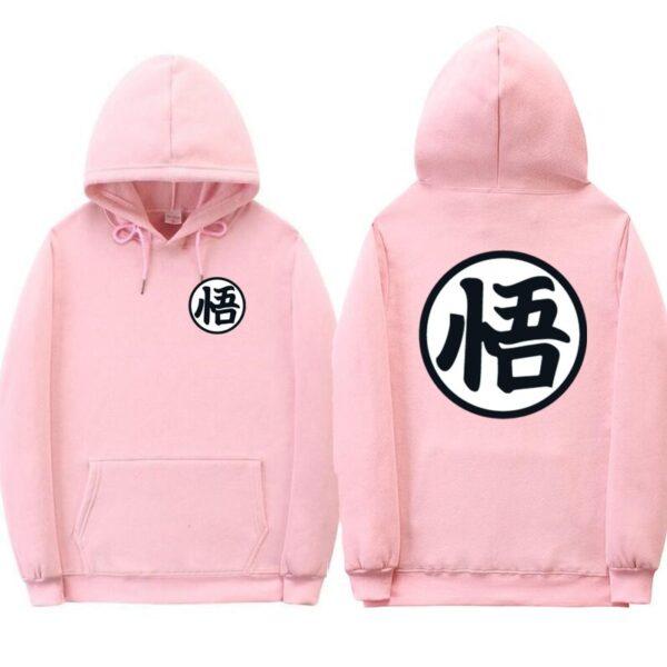 dragon ball z original pink hoodie