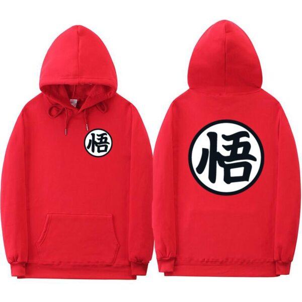dragon ball z original red hoodie