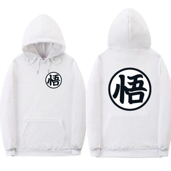 dragon ball z original white hoodie