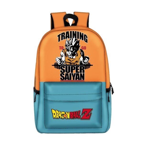 dragon ball z training to go super saiyan backpack