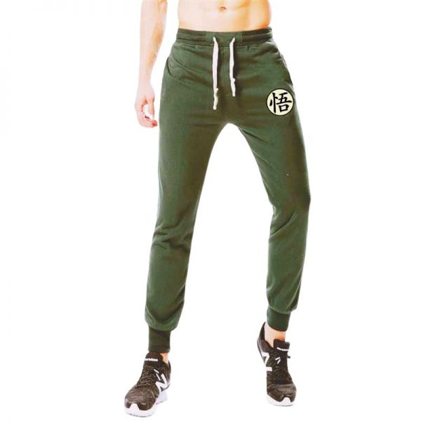 goku kanji symbol green sweatpants