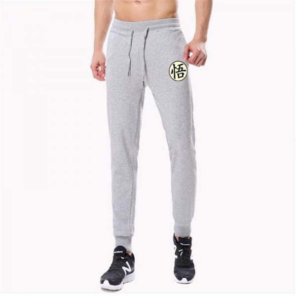 goku kanji symbol grey sweatpants