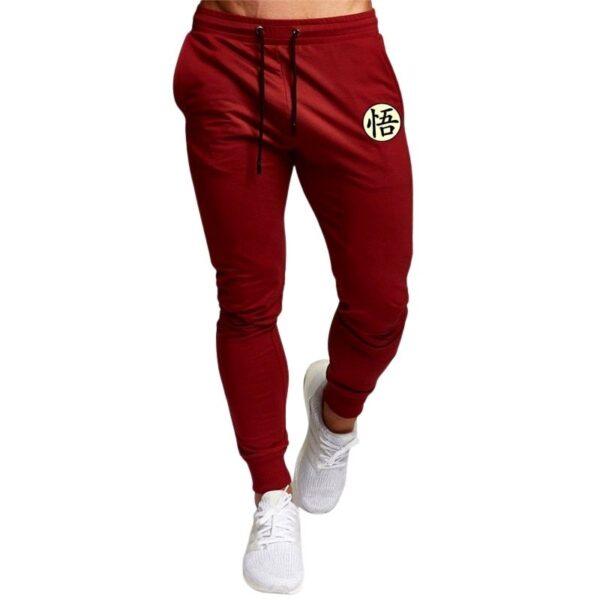 goku kanji symbol red sweatpants