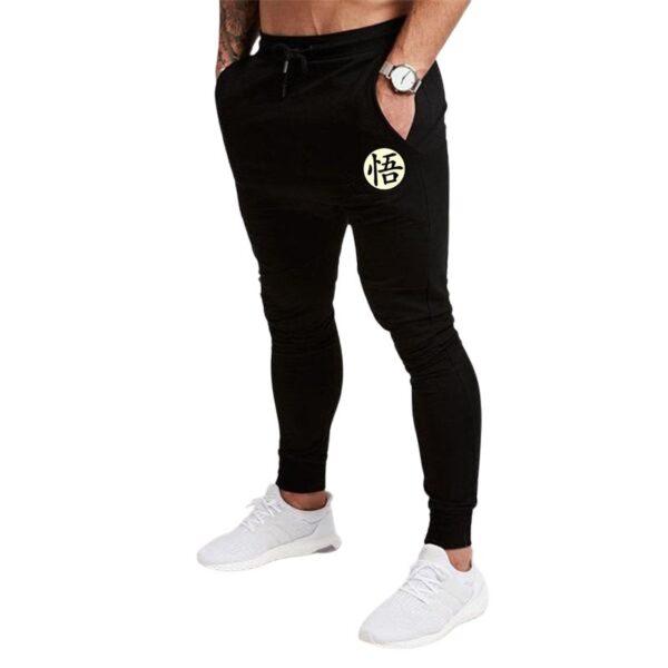 goku kanji symbol sweatpants black