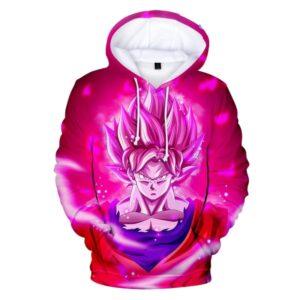 goku super saiyan god rose hoodie
