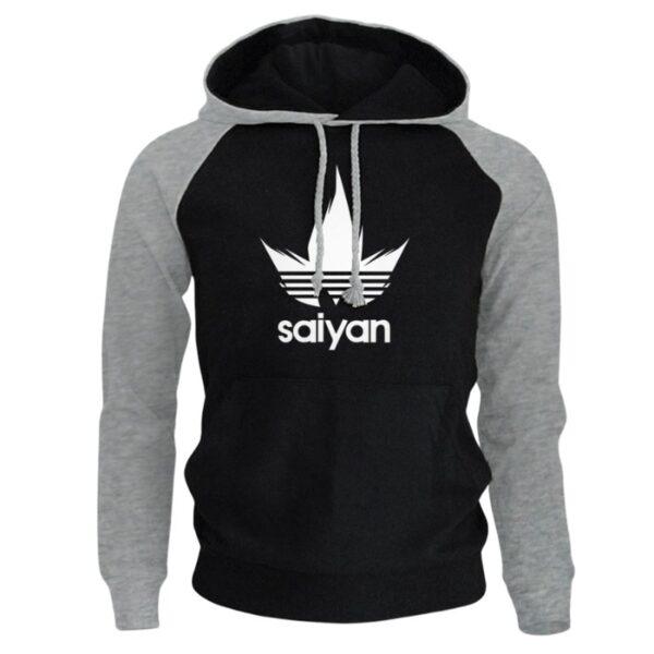saiyan vegeta adidas black hoodie