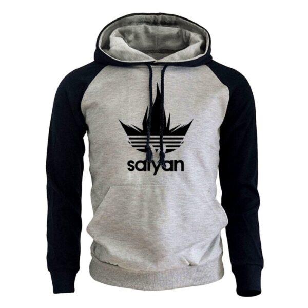 saiyan vegeta adidas grey hoodie