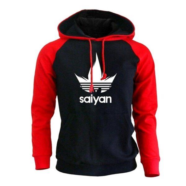 saiyan vegeta adidas red hoodie